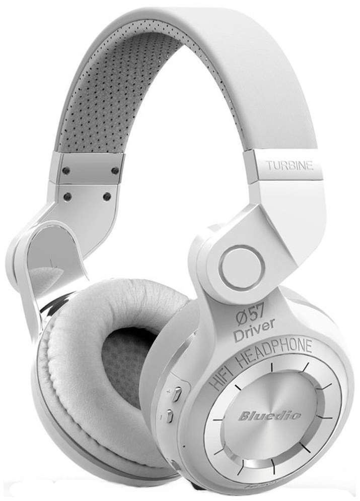 Миниатюра Беспроводные наушники Bluedio T2 Plus White №1