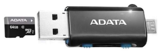 Картридер Adata AOTGMRBK USB 2.0 Черный