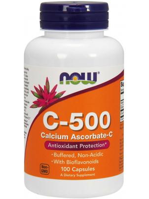 Витамин C NOW Sports C-500 100 капсул