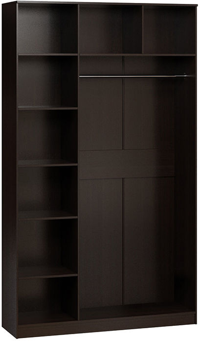 Платяной шкаф Divan.ru Лайт-3-1 Комби 120х50х210, венге темный