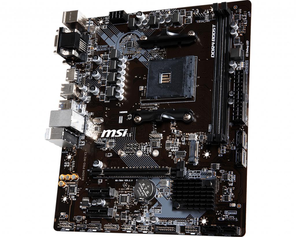 Материнская плата MSI B450M PRO-M2 V2 AM4, AMD B450