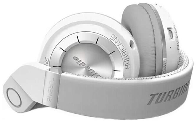 Миниатюра Беспроводные наушники Bluedio T2 Plus White №4