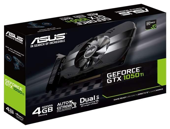Видеокарта ASUS Phoenix GeForce GTX 1050 Ti (PH-GTX1050TI-4G ...