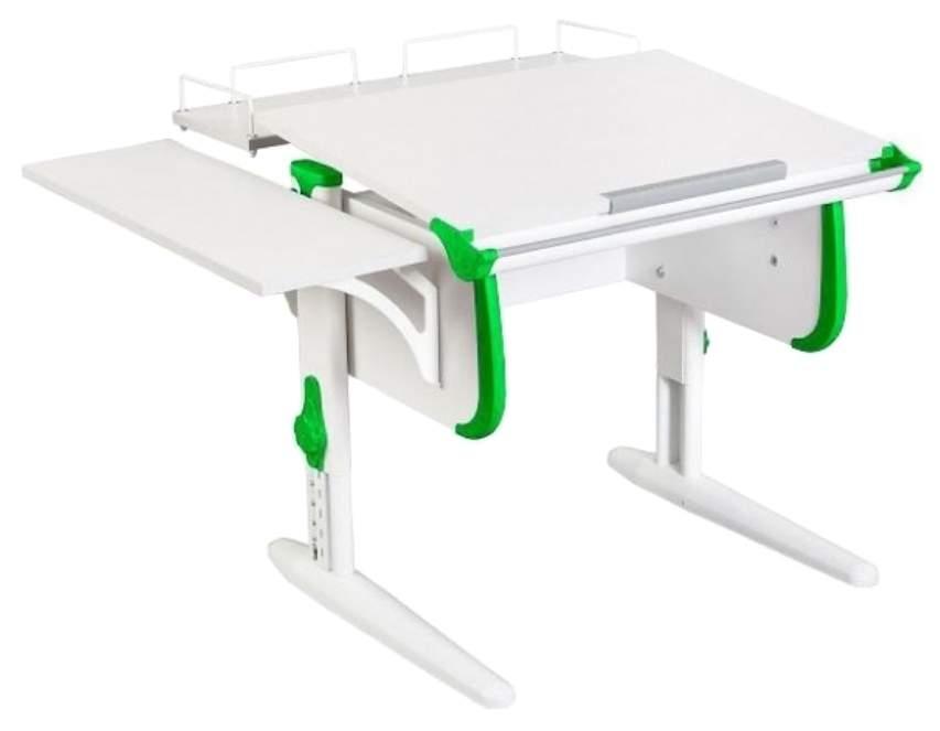 Парта Дэми White Стандарт СУТ-24-02 С задней и боковой приставкой Белый/Зеленый