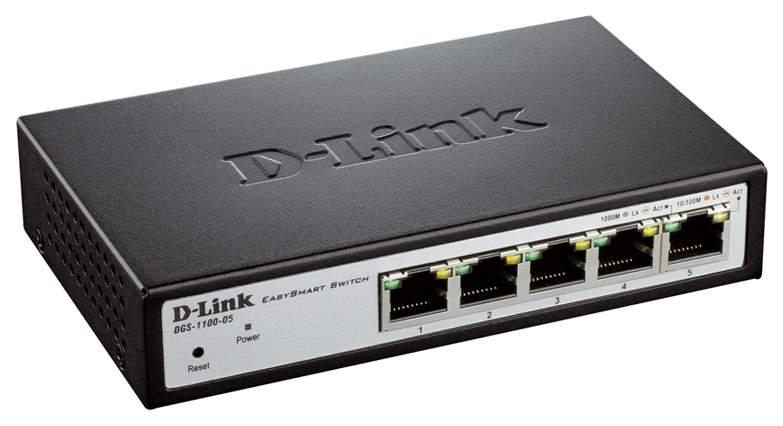 Коммутатор D-Link EasySmart DGS-1100-05 Черный