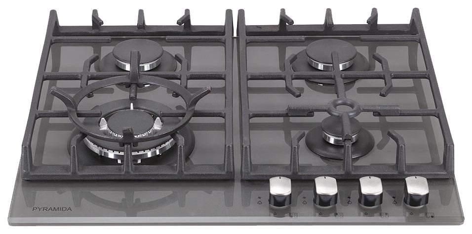 Встраиваемая варочная панель газовая Pyramida PFG 647 Luxe Black