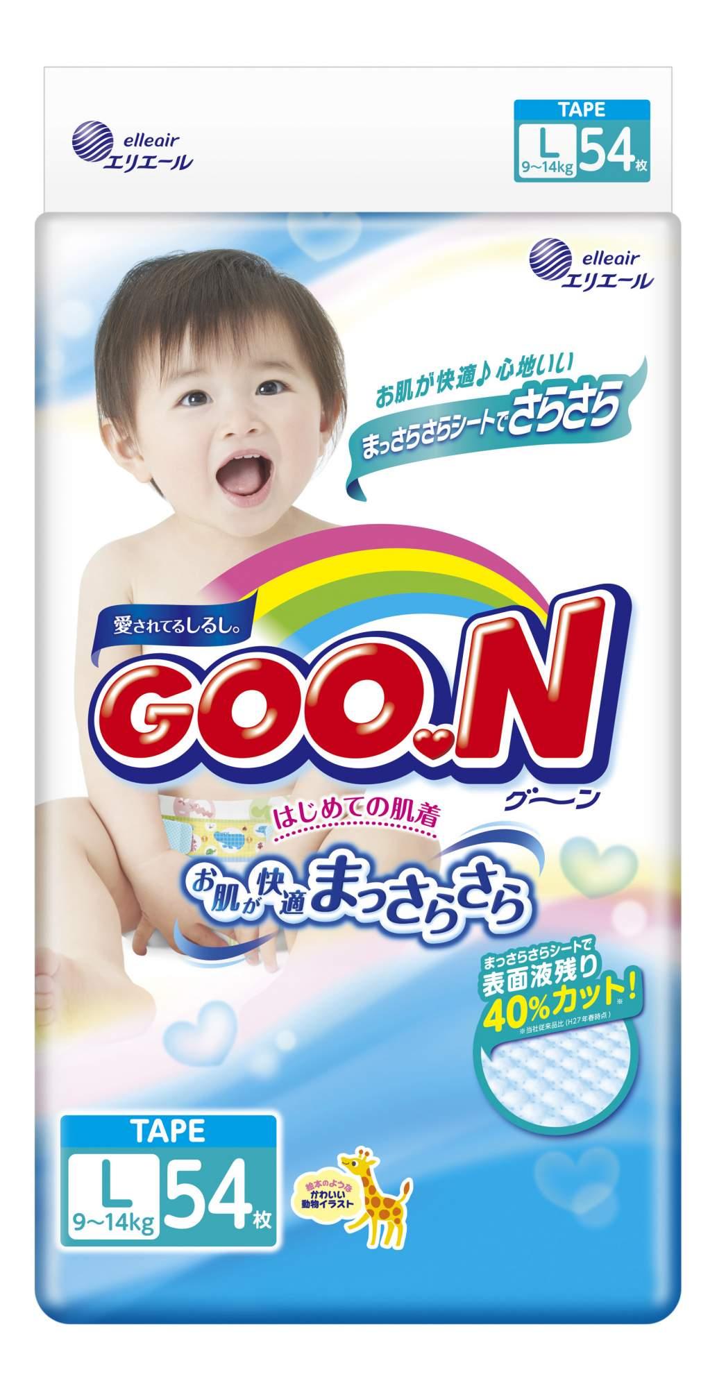 Подгузники Goon L (9-14 кг), 54 шт.