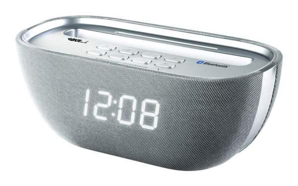 Радио-часы BVItech BV-Q-17WSU Серебристый Белый