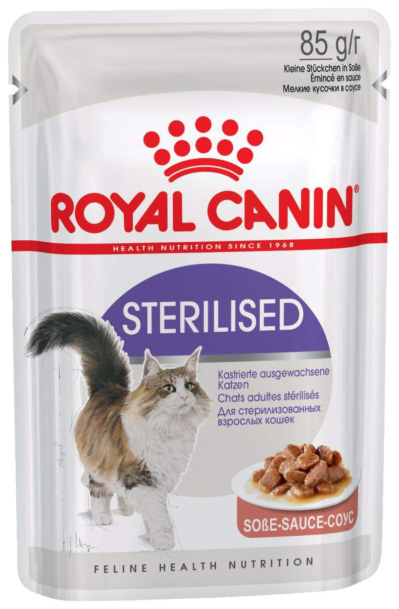 Влажный корм для кошек ROYAL CANIN Sterilised, мясо, домашняя птица, 85г