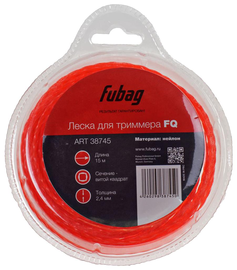 Леска для триммеров FUBAG FQ сечение витой квадрат L 15 м х 2,4 мм