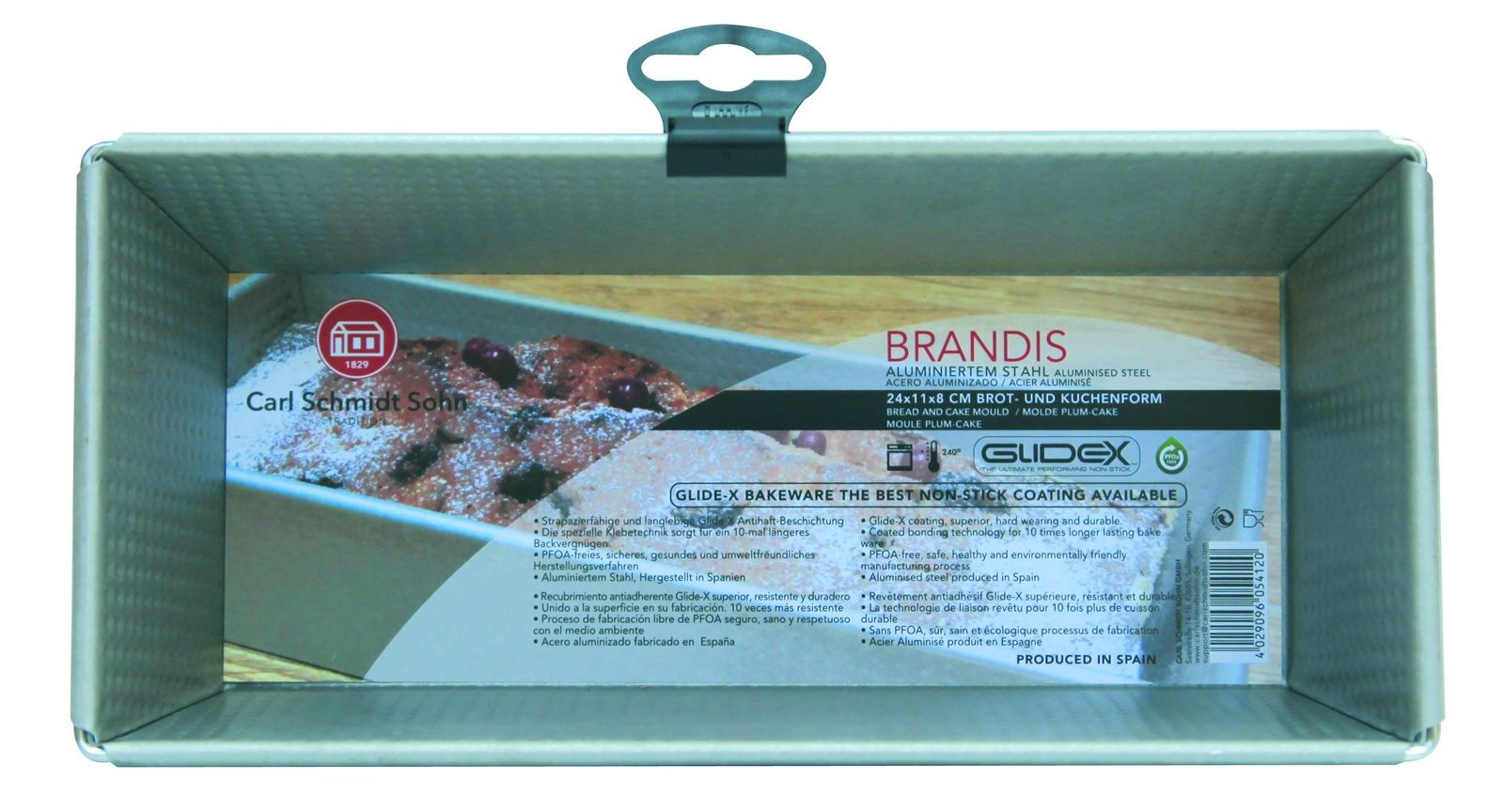 Форма для кекса CSS BRANDIS 24х11х8