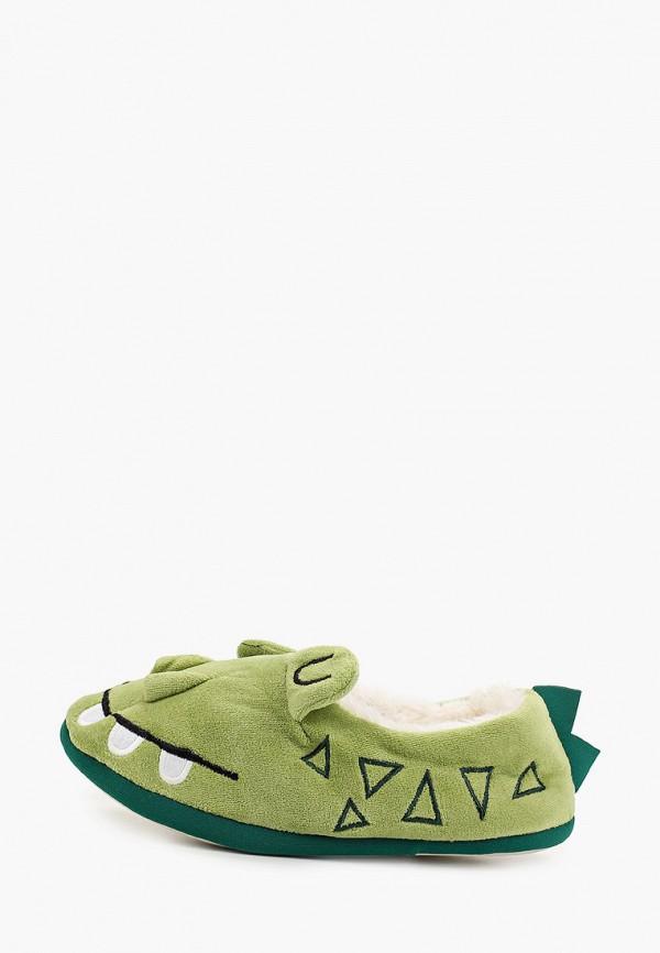 Домашние тапочки женские Halluci Крокодилы с задником зеленые 36-37 RU