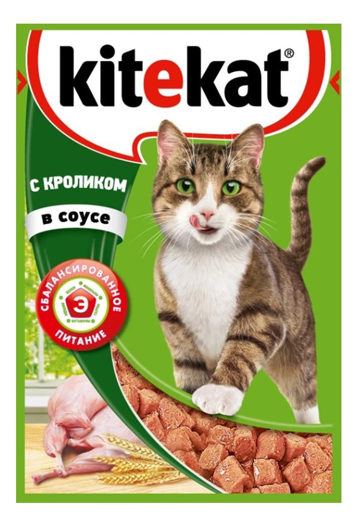 Влажный корм для кошек KiteKat, кролик, 24шт, 85г