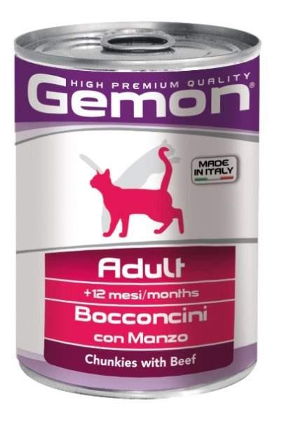 Консервы для кошек Gemon, говядина, 415г