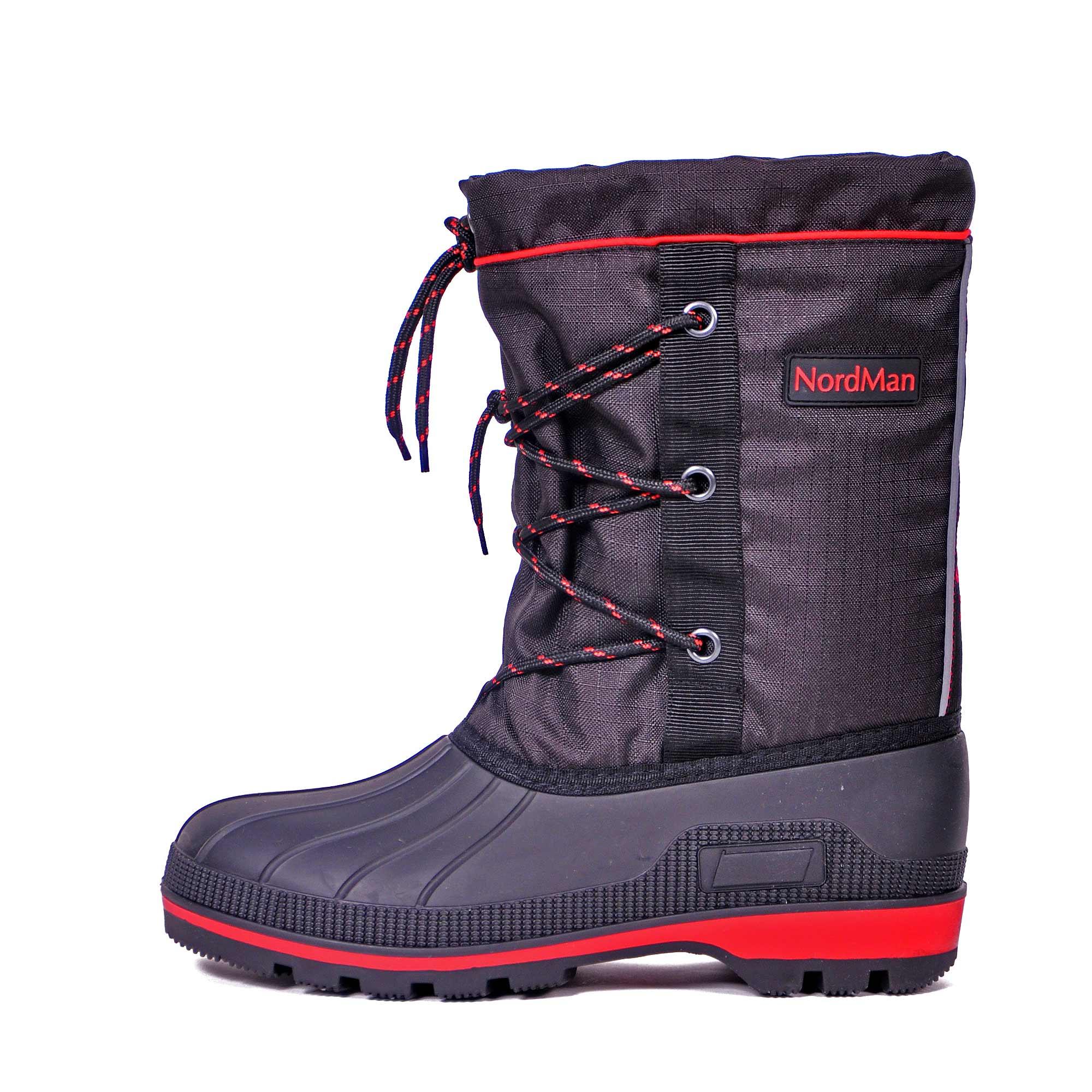 Бахилы для охоты Nordman New Red, на шнуровке, черные, 44 RU