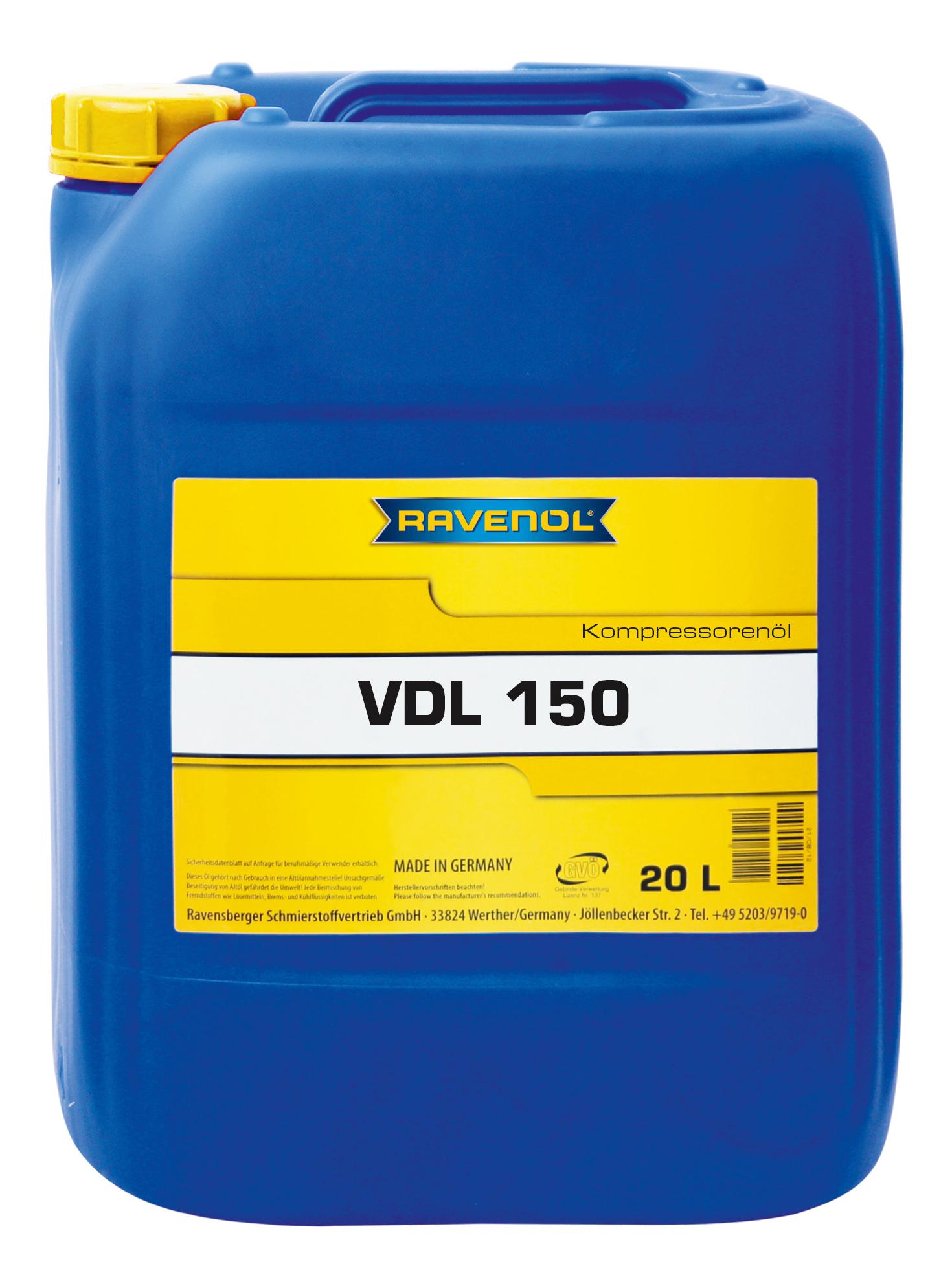 Компрессорное масло RAVENOL Kompressorenoel VDL 150 20л 1330101-020-01-999