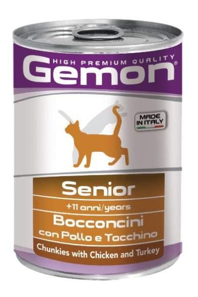 Консервы для кошек Gemon, курица, индейка, 24шт, 415г