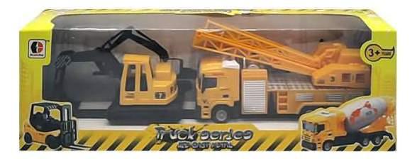 Набор машин строительной техники Junfa Toys Кран и экскаватор 1813-2C