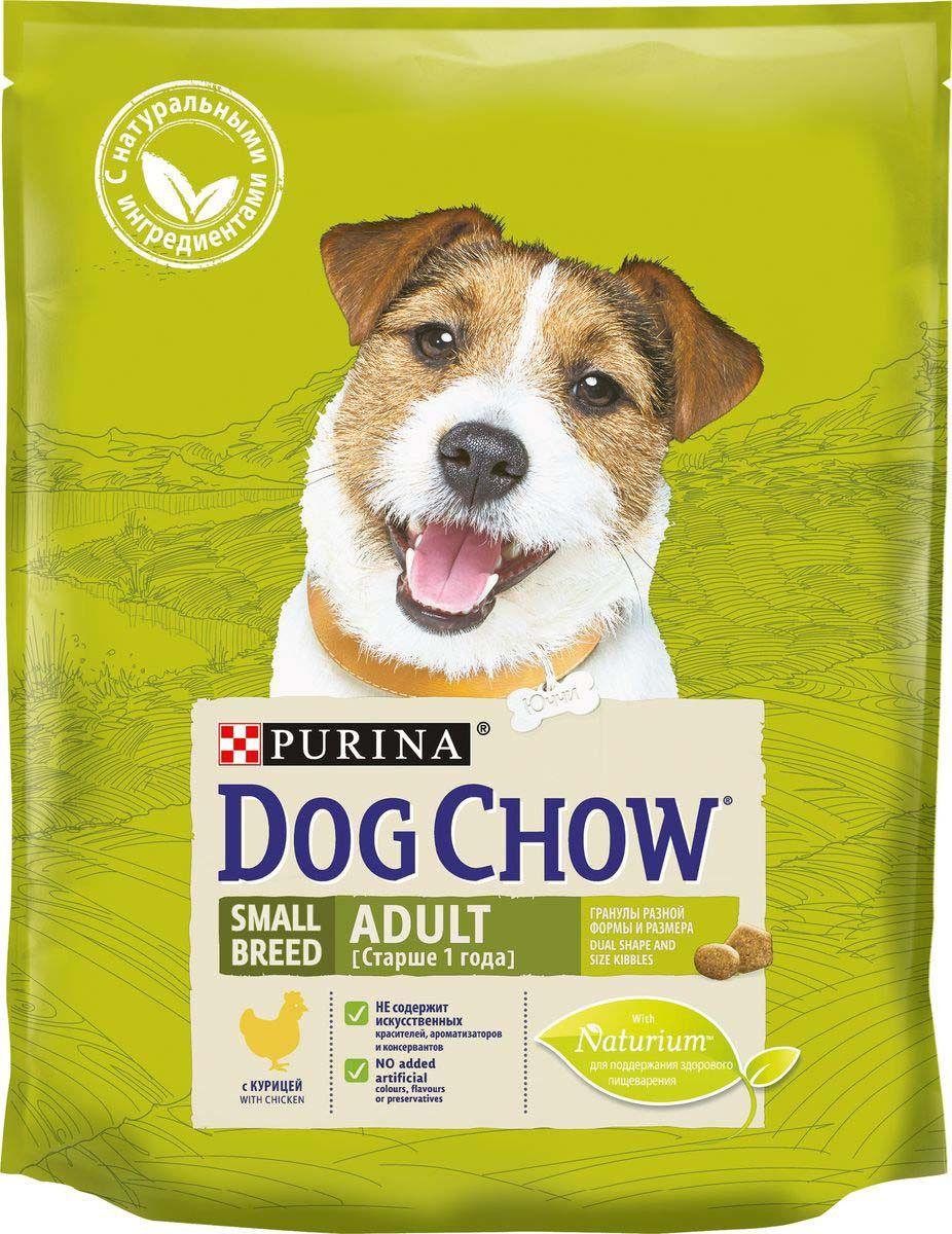 Сухой корм для собак Dog Chow Adult, курица, 0,8кг
