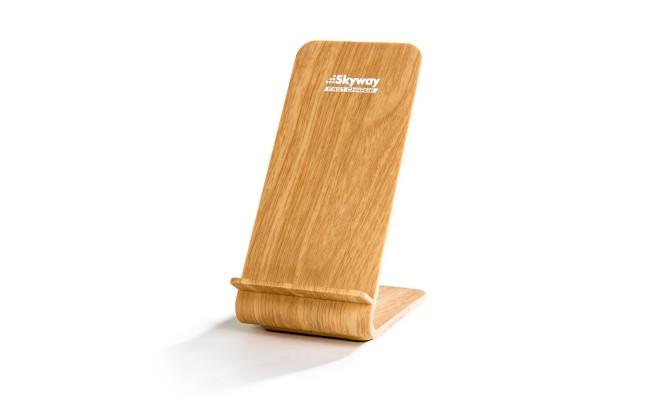 Беспроводное зарядное устройство Skyway Energy Fast Light Wood