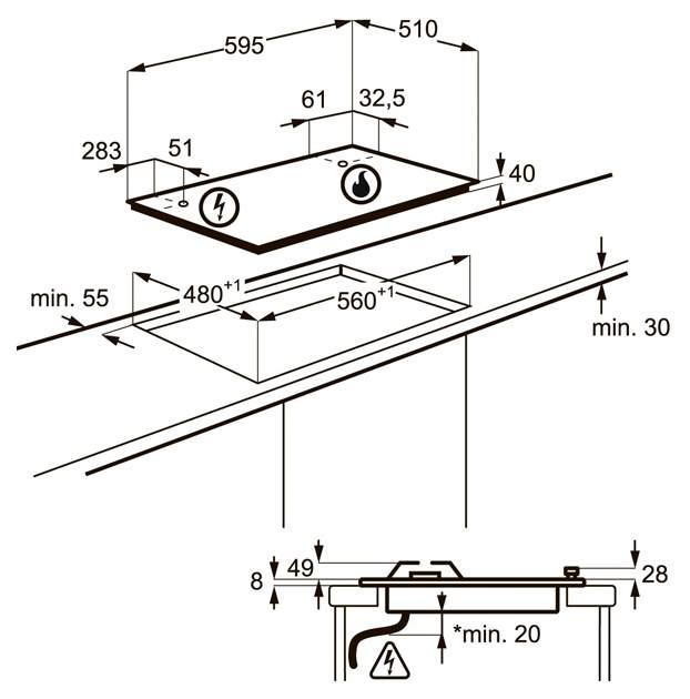 Встраиваемая варочная панель газовая AEG HG565455SY Silver