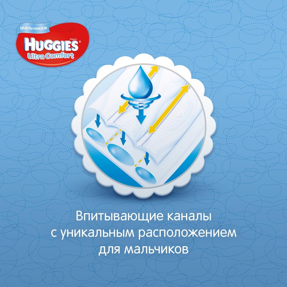 Миниатюра Подгузники Huggies Ultra Comfort для мальчиков 4 (8-14 кг), Disney Box, 126 шт. №6