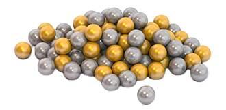 Шарики НОРДПЛАСТ диаметром 6 см, 100 шт. золотой и серебряный цвет