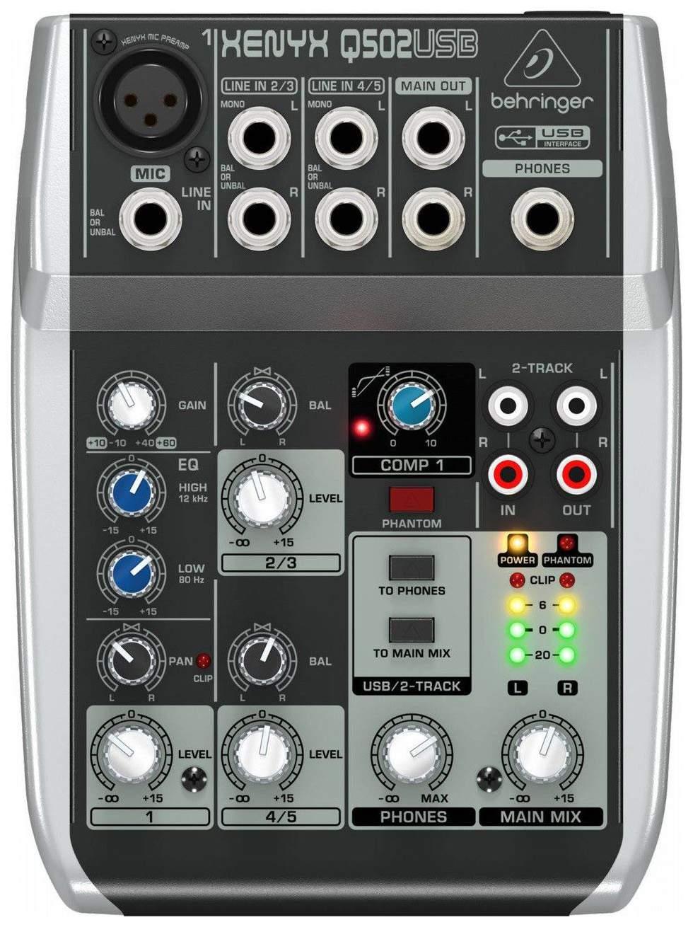 Микшерный пульт Behringer Xenyx Q502USB