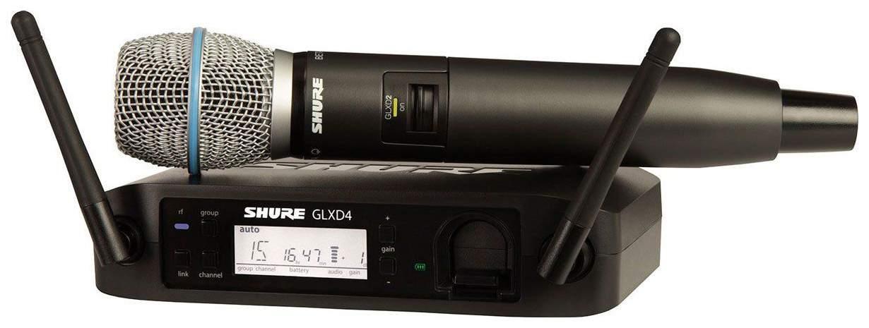 Цифровая вокальная радиосистема Shure GLXD24RE/B87A с капсюлем микрофона Beta 87