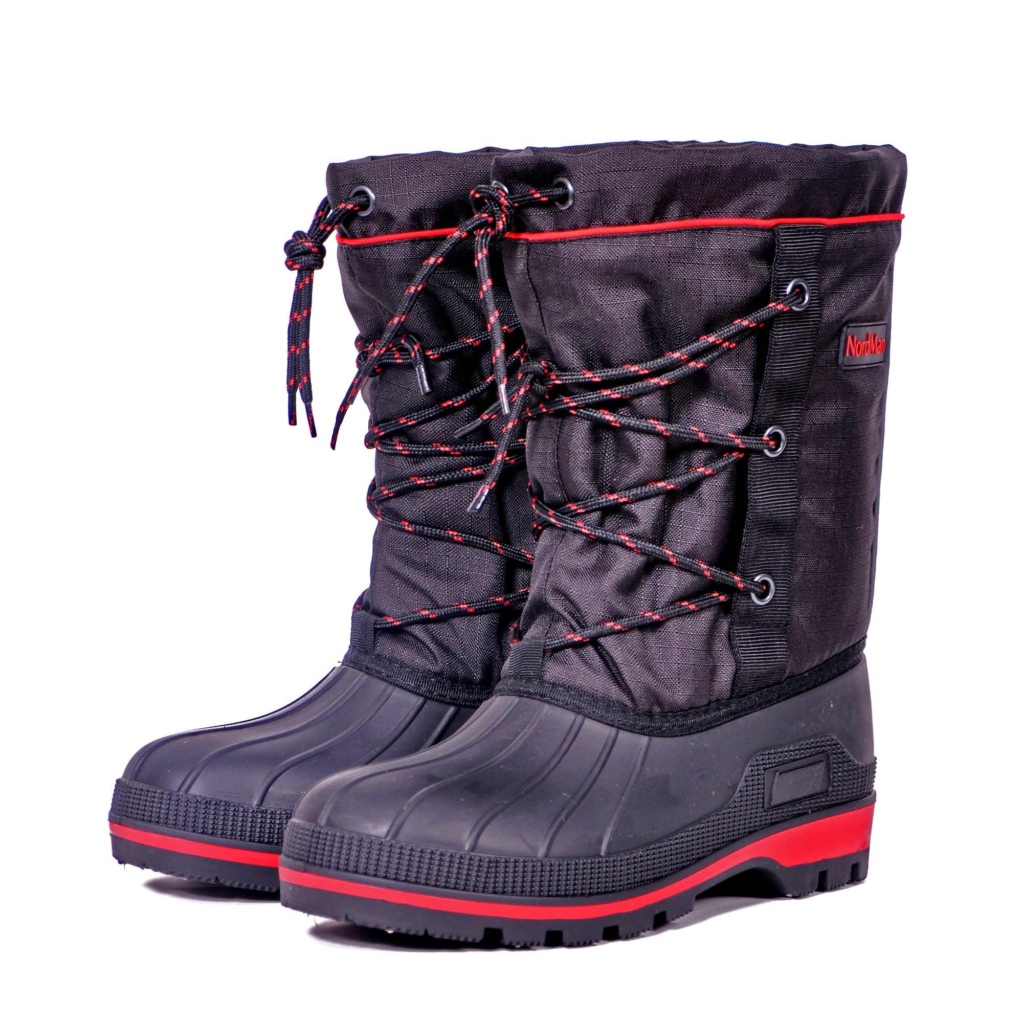 Бахилы для охоты Nordman New Red, на шнуровке, черные, 46 RU