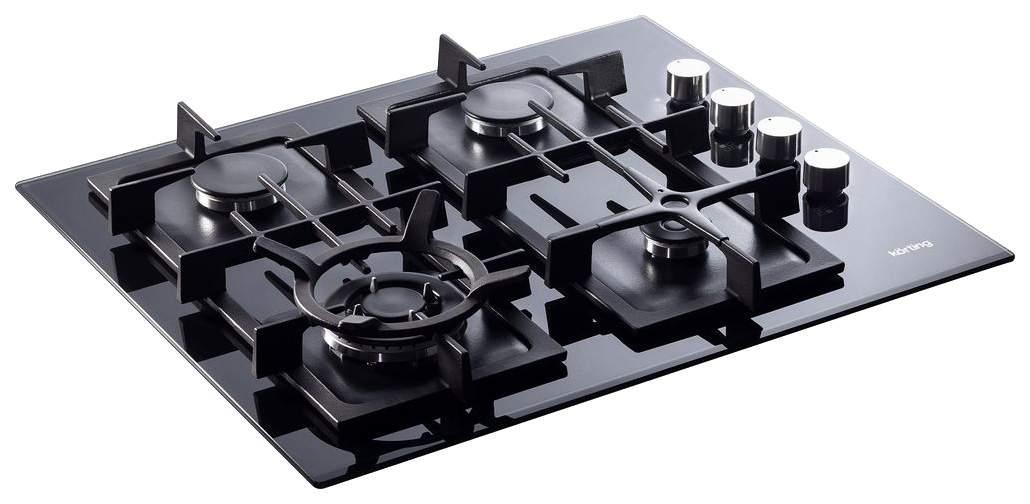 Встраиваемая варочная панель газовая Korting HGG 665 CTN Black