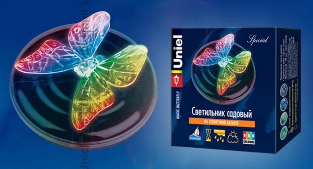 Светильник на солнечных батареях Uniel USL-S-115/PT090 Magic Butterfly 4 см