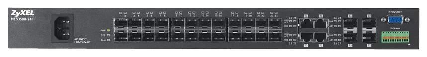 Коммутатор ZyXEL MES3500-24F Черный