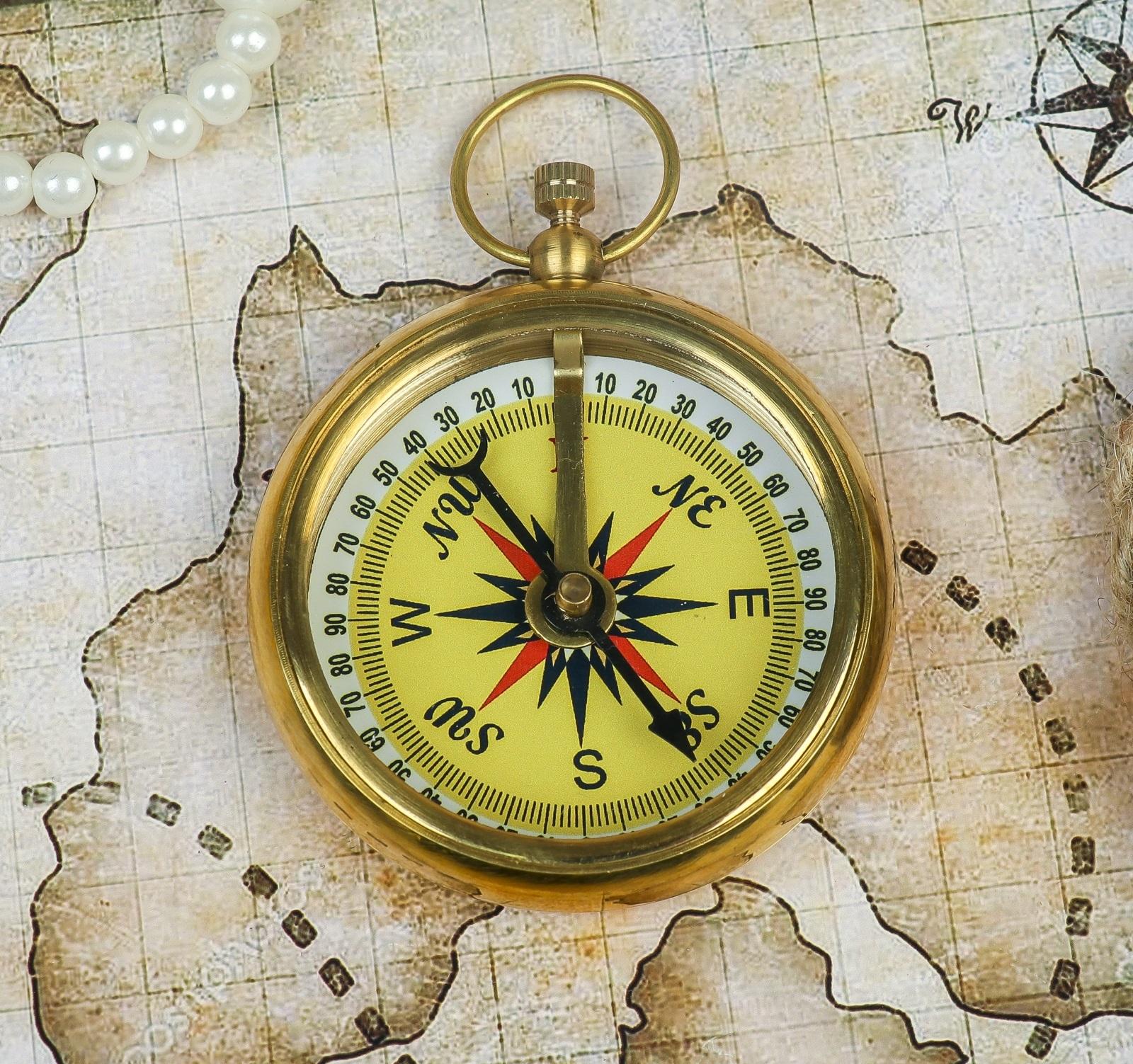 фотография компаса с подписанием сторон света общем