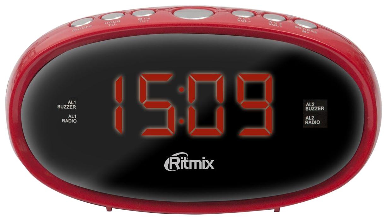 Радио-часы Ritmix RRC-616 Red
