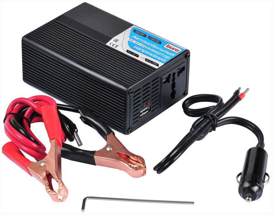 Автомобильный преобразователь напряжения BURO 12В-220В 260Вт BUM-8105CI300
