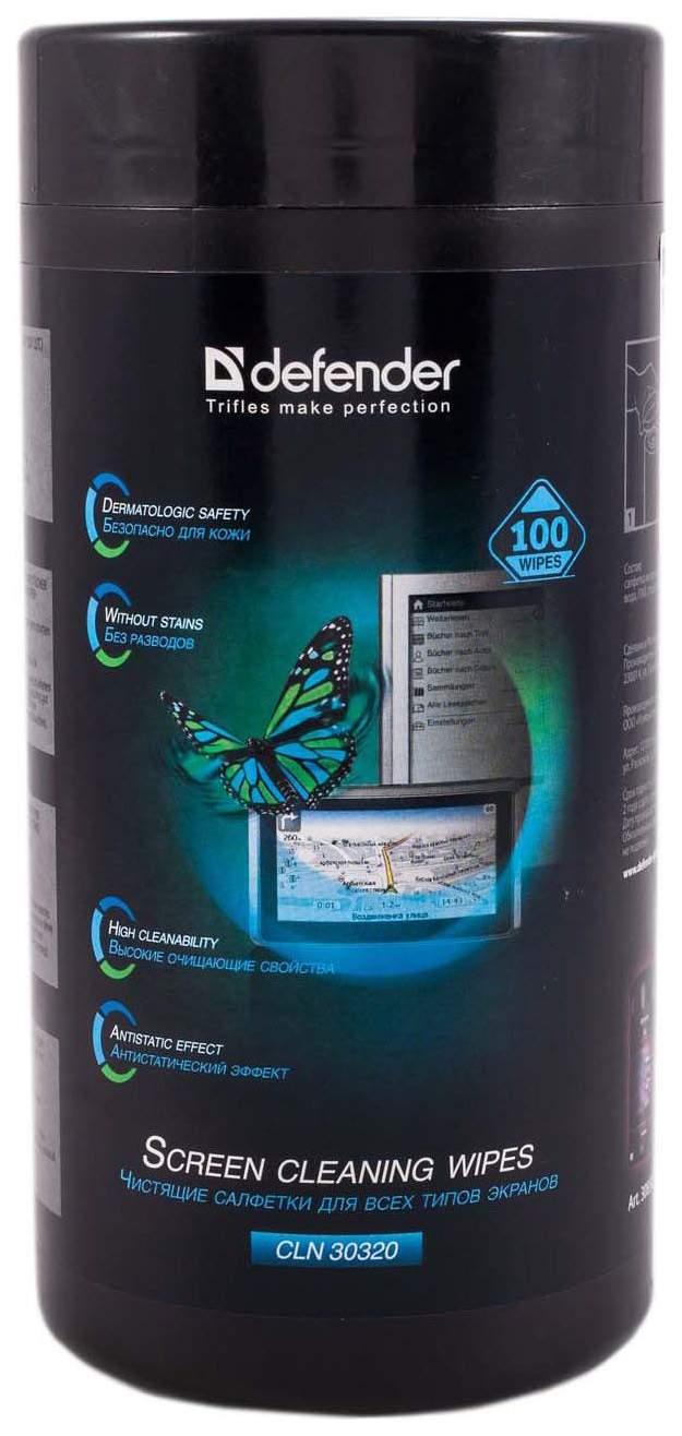 Салфетки чистящие для экранов Defender Eco CLN 30320