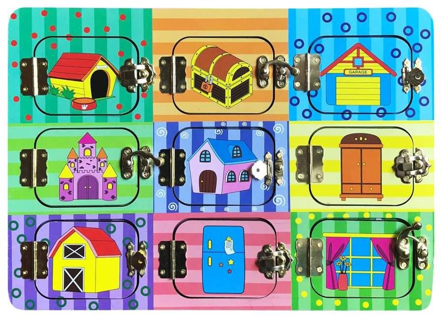 Развивающая игрушка ABtoys Дверцы на замочках 4112