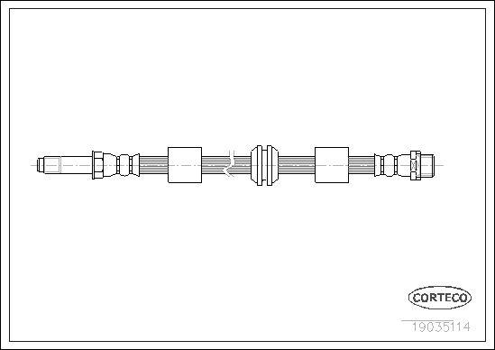 Шланг тормозной CORTECO 19035114