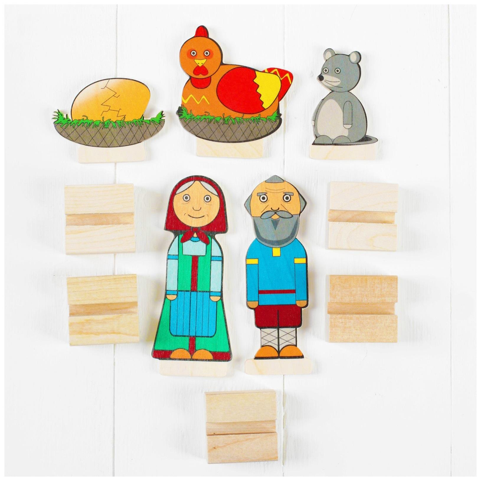 Персонажи сказки курочка ряба картинки героев для кукольного театра