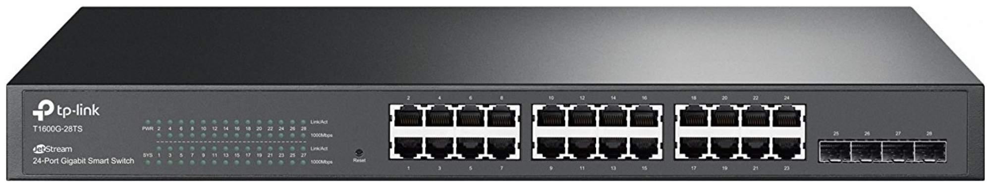 Коммутатор TP-LINK T1600G-28TS Черный