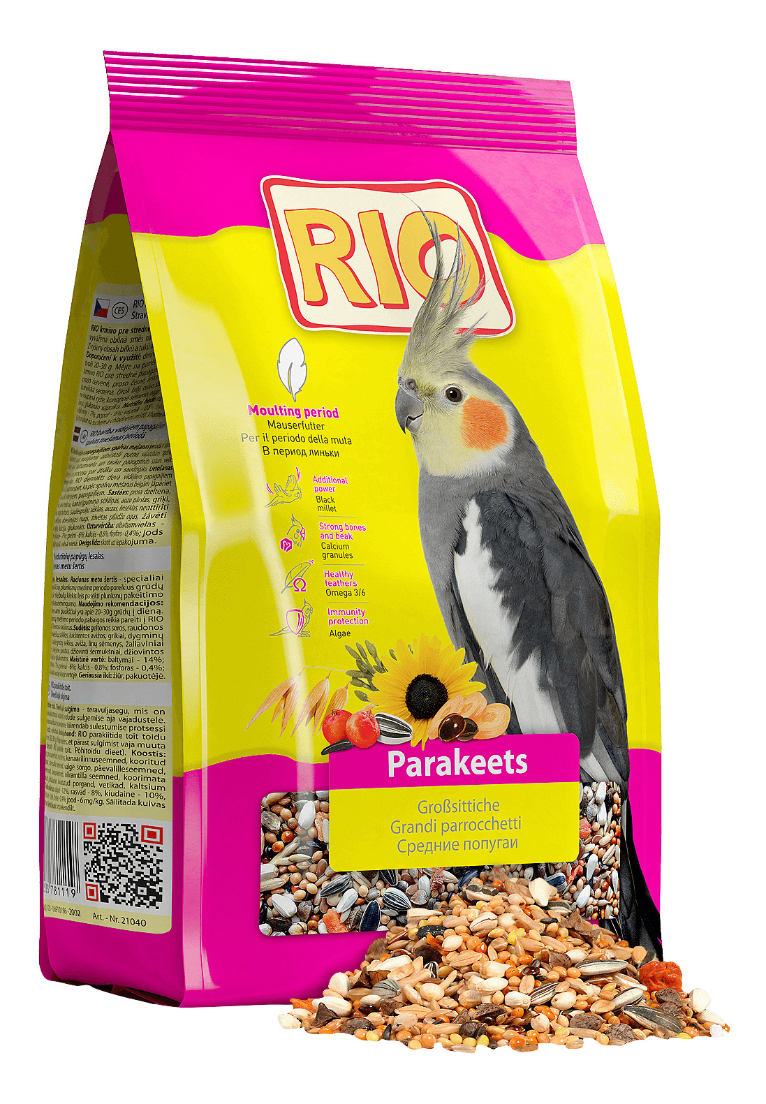 Основной корм RIO для попугаев 500 г, 1 шт