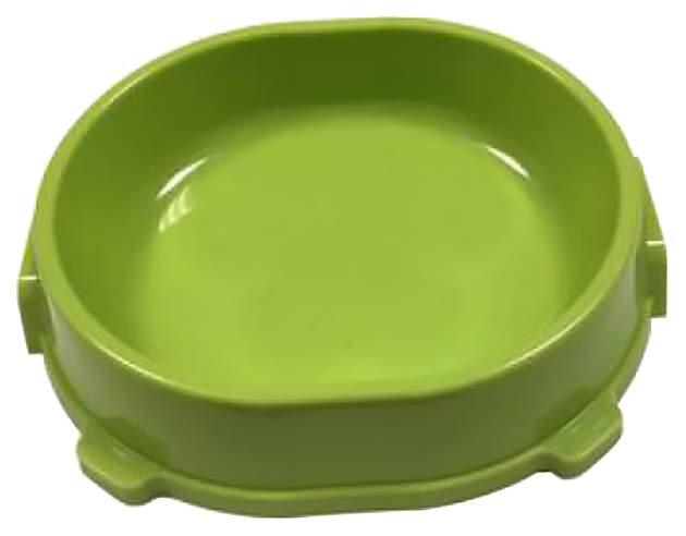 Одинарная миска для кошек и собак FAVORITE, пластик, зеленый, 0.22 л