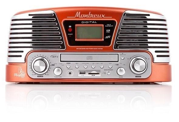 Проигрыватель виниловых пластинок Playbox Montreux PB-106D-OR Orange
