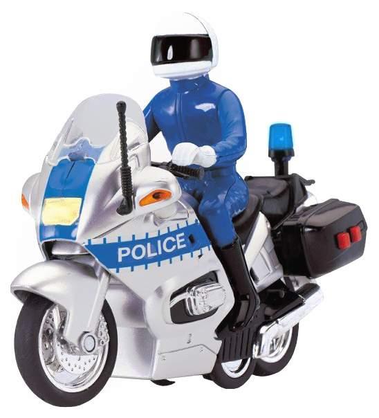 Инерционная модель полицейского мотоцикла Police (свет, звук) Dickie