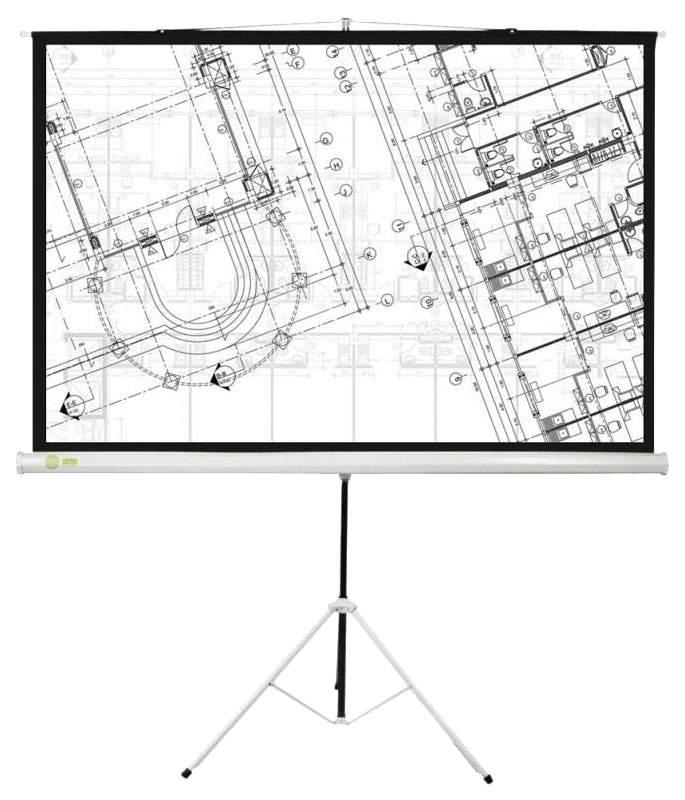 Экран для видеопроектора Cactus Triscreen CS-PST-127X127 Белый