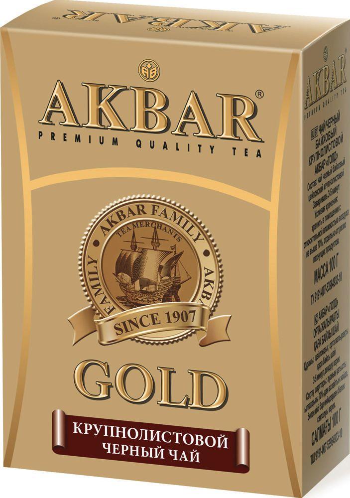 Чай черный Akbar gold крупнолистовой 100 г