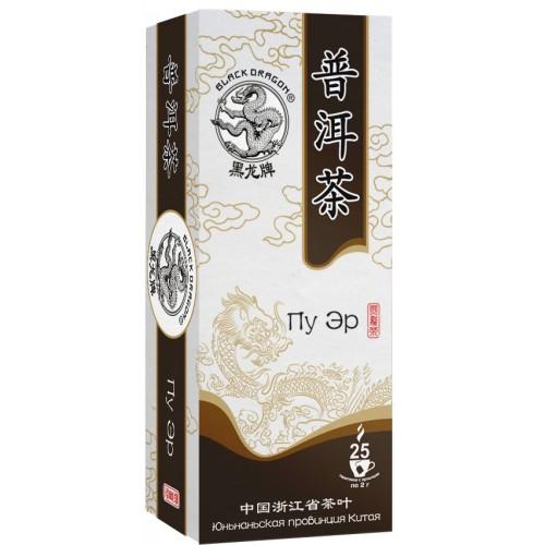 Чай черный Черный дракон пу эр 25 пакетиков