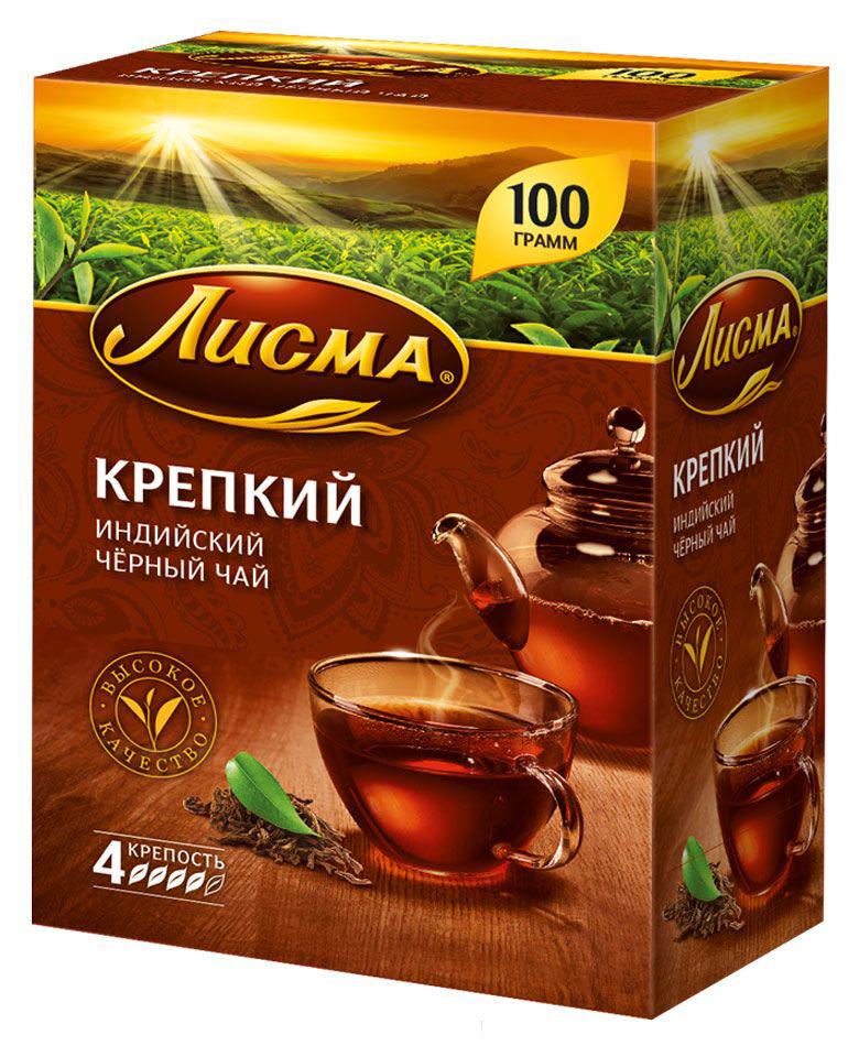Чай Лисма крепкий черный индийский 100 г