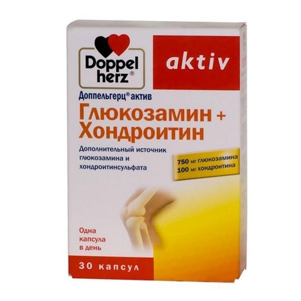 Фотография Глюкозамин хондроитин Doppelherz Актив 30 капсул №1